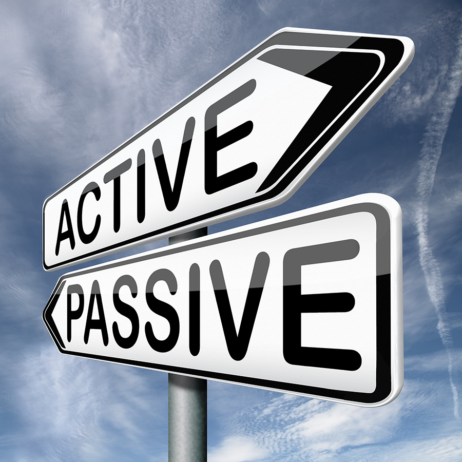 In funds that are actively managed versus passive index funds