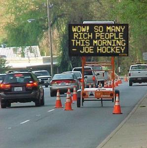 joe hockey rich people cars